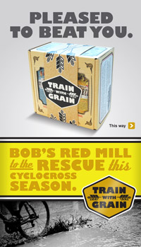 Bob's Red Mill - Train with Grain banner